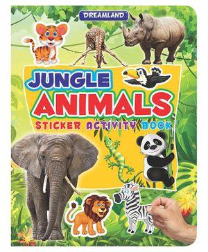 Sticker Activity Book Jungle Animals - English