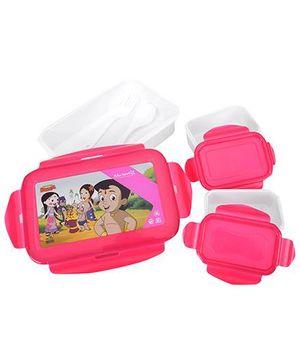 Chhota Bheem Super Lock And Seal Lunch Box - Deep Pink