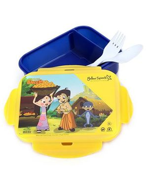 Chhota Bheem Lunch Box With Fork And Spoo