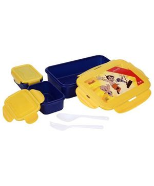 Chhota Bheem Super Lock And Seal Lunch Box - Blue And Yellow