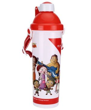 Chhota Bheem Push Button Sipper Bottle Red - 550 ml