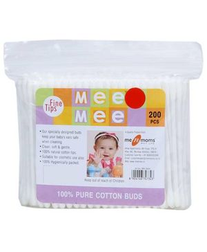 Mee Mee Ear Cotton Buds White - 200 Pieces