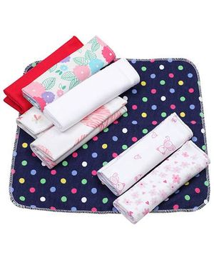 Ben Benny Wash Cloth Multi Colour And Print - 8 Pieces