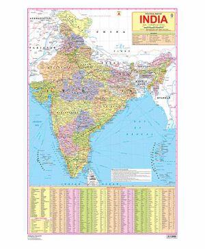 India Map Chart - English