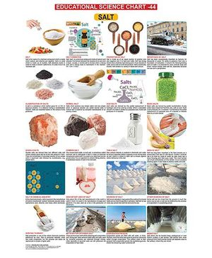 Educational Science Salts Chart 44 - English