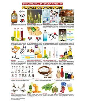 Educational Science Alcohols And Organic Acids Chart 47 - English