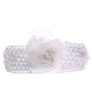 Stoln Crochet Pattern Headband Rose Applique - White