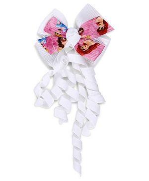 Disney Hair Clip Minnie Mouse Print - White