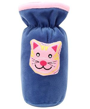 Babyhug Plush Bottle Cover Kitty Design - Blue