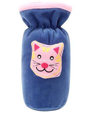 Babyhug Plush Bottle Cover Kitty Design - Blue