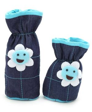 1st Step Denim Bottle Cover Set of 2 - Navy Blue