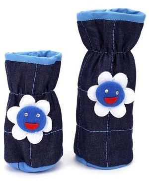 1st Step Bottle Cover Denim Sun Face Set of 2 - Blue