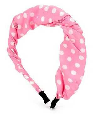 Addon Hair Band Polka Dots - Pink