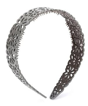 Addon Hairband Floral Design - Grey