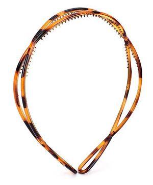 Addon Hairband Zig Zag Design - Brown