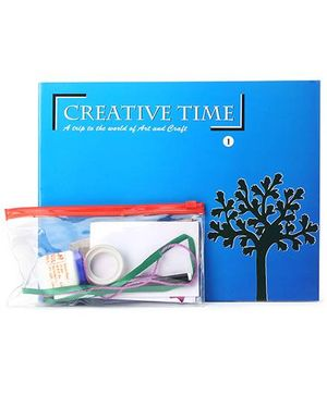Blue Orange Publications Creative Time 1 Activity Book With Craft Kit