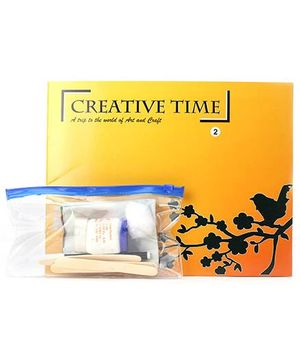 Blue Orange Publications Creative Time 2 Activity Book With Craft Kit