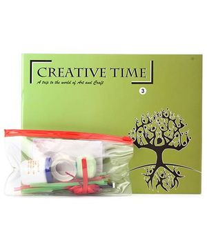 Blue Orange Publications Creative Time 3 Activity Book With Craft Kit