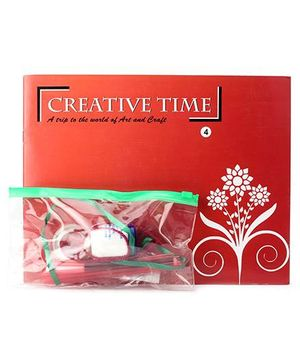 Blue Orange Publications Creative Time 4 Activity Book With Craft Kit