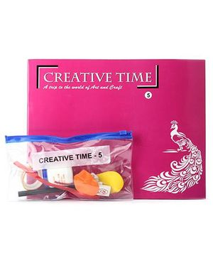 Blue Orange Publications Creative Time 5 Activity Book With Craft Kit