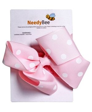 NeedyBee Peach Ribbon New Born Hair Band