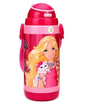Barbie Double Wall Water Bottle Dark Pink - 450 ml