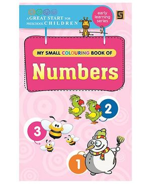 My First Small Coloring Book of Numbers - English
