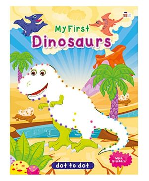 Art Factory Dinosaurs Dot To Dot- Book With Sticker