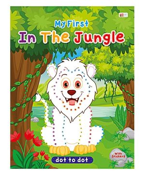 Art Factory In The Jungle Dot To Dot- Book With Sticker