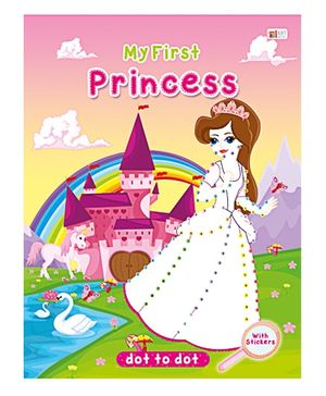 Art Factory Princess Dot To Dot- Book With Sticker