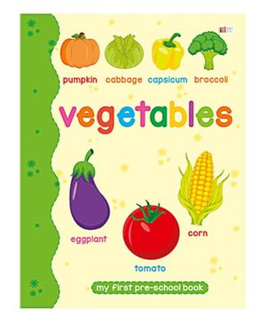 Art Factory Vegetables Pre School Book - Vegetables