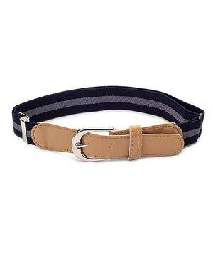 Babyhug Belt Stripes Pattern - Navy Blue