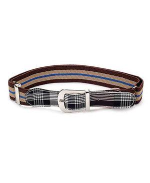 Babyhug Belt Stripes Pattern - Black Maroon And Peru