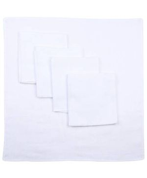 Babyhug Cotton Square Nappy Set Of 5 - White
