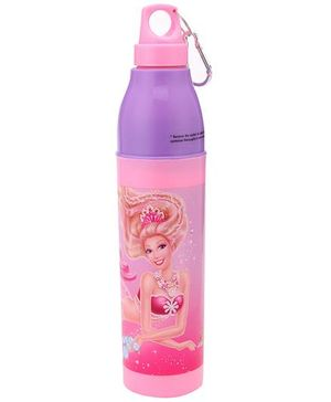 Barbie Pearl Princess Cool Trek Water Bottle Pink - 500 ml