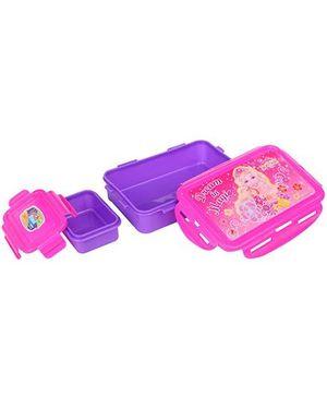 Barbie Secret Door Lock Seal Lunch Box- Pink