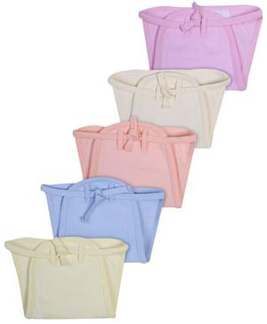Babyhug Muslin Padded Solid Interlock Fabric Nappy Small - Pack Of 5