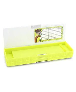 Ben 10 Double Sided Pencil Box - Green And White
