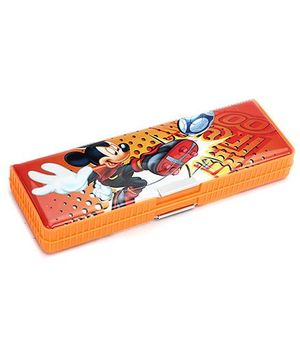 Mickey Mouse And Friends Double Sided Pencil Box - Orange
