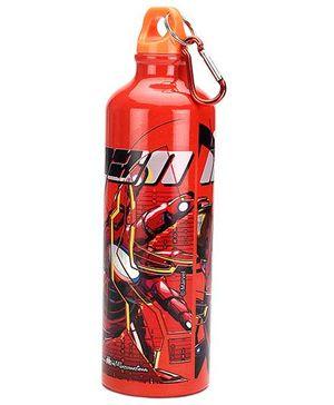 Avengers Aluminium Water Bottle Red - 750 ml