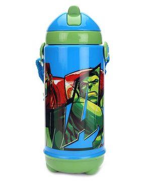 Marvel Avengers Sipper Bottle Blue And Green - 420 ml