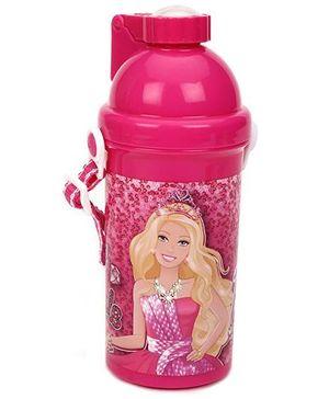 Barbie Eco Push Button Bottle Pink - 450 ml