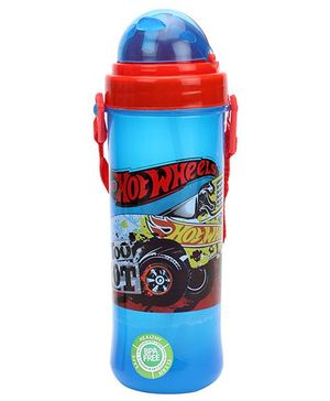 Hotwheels Eco Sipper Water Bottle - Red & Blue