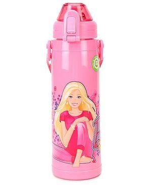 Barbie Push Button Water Bottle DW XL BB2 Pink - 550 ml