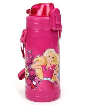Barbie Bottle Double Walled Bottle Pink- 320 ml