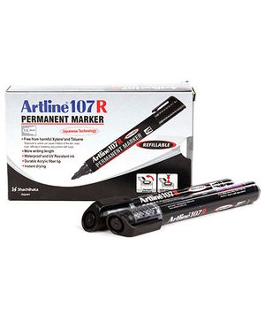 Artline Permanent Marker EK107R - Black