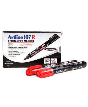 Artline Permanent Marker EK107R - Red