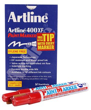 Artline Paint Marker EK-400XF - Red