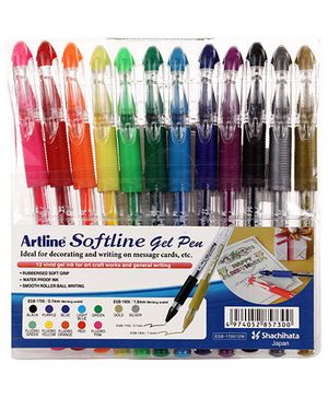 Artline Softline Gel Pen Set of 12 - Multicolour