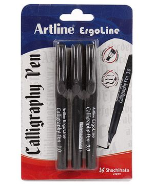 Artline Ergoline Calligraphy Pen Pack of 3 - Black